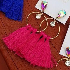 ✨NEW✨Crystal Stone Fringe Earrings!